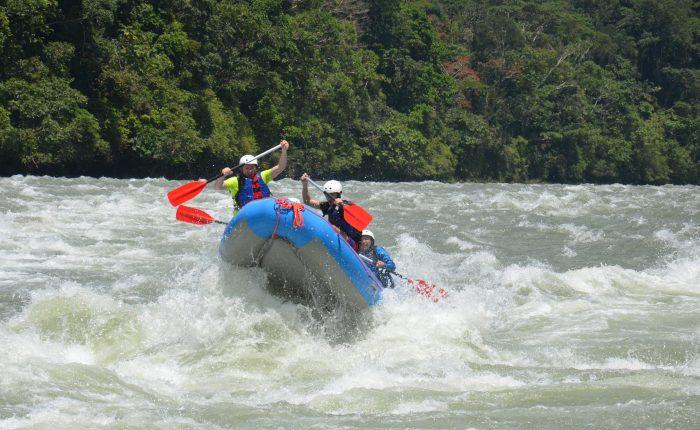 Rafting boat in Jondachi river in Tena, Napo. Ecuador