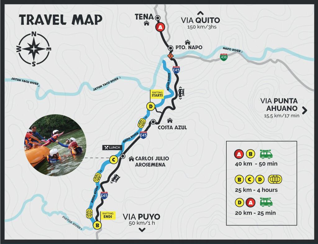 Rafting Anzu travel map