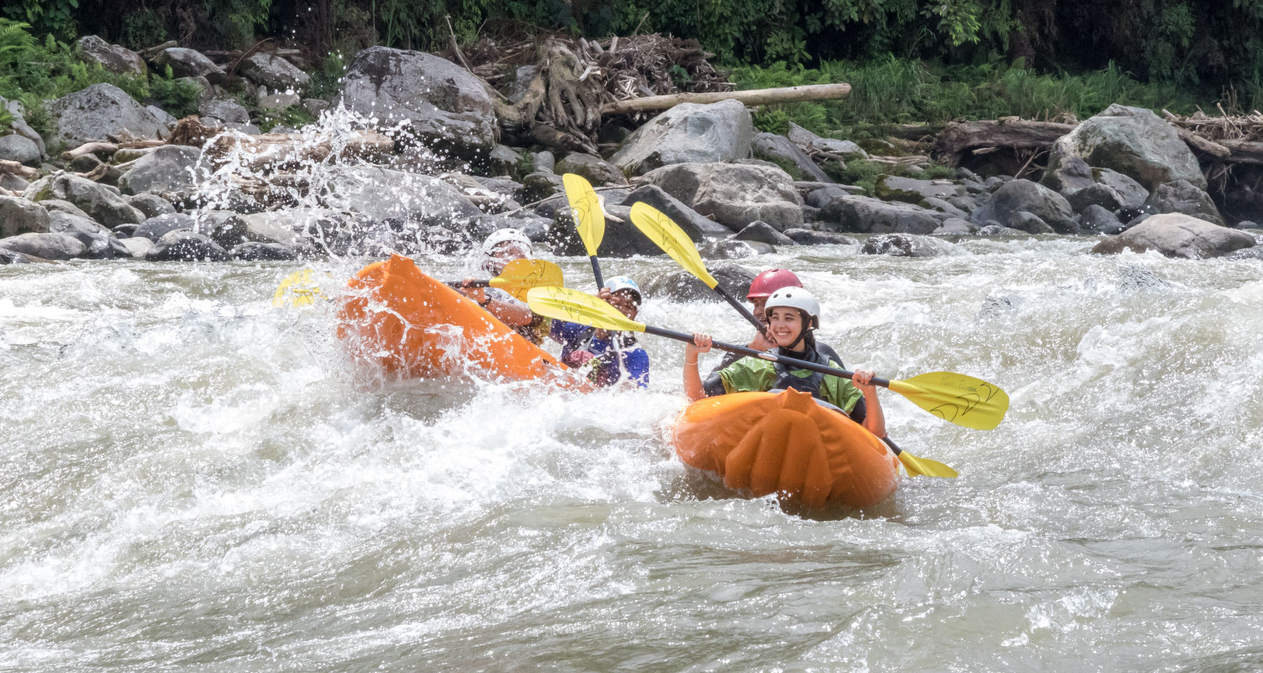 Duckies in Jatun Yacu River