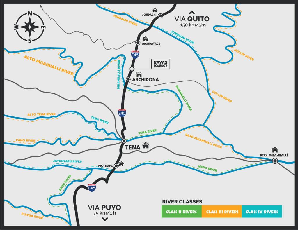 Rivers available in Kayak Ecuador