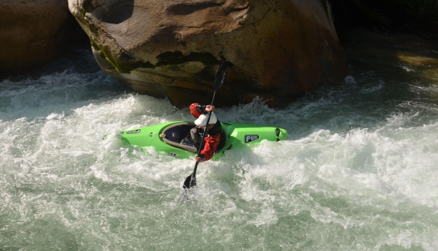 Kayaking some rapids