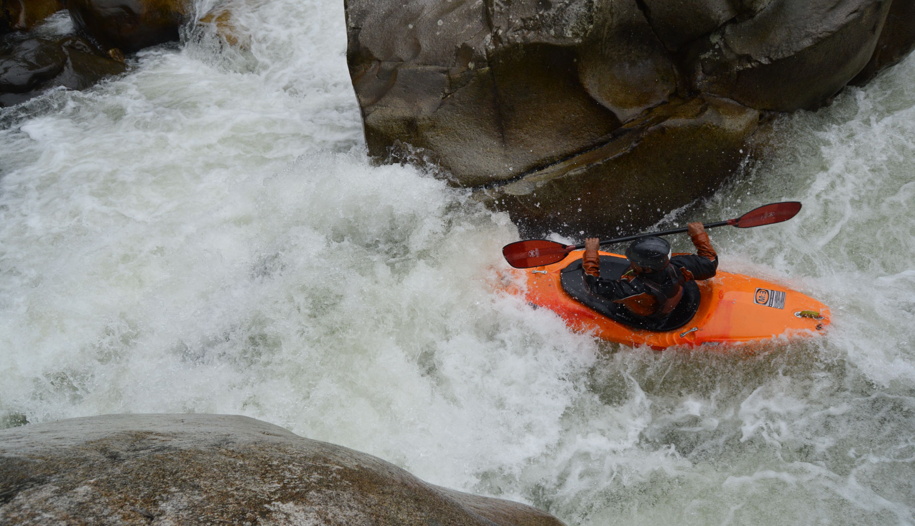 Kayak adventure some rapids