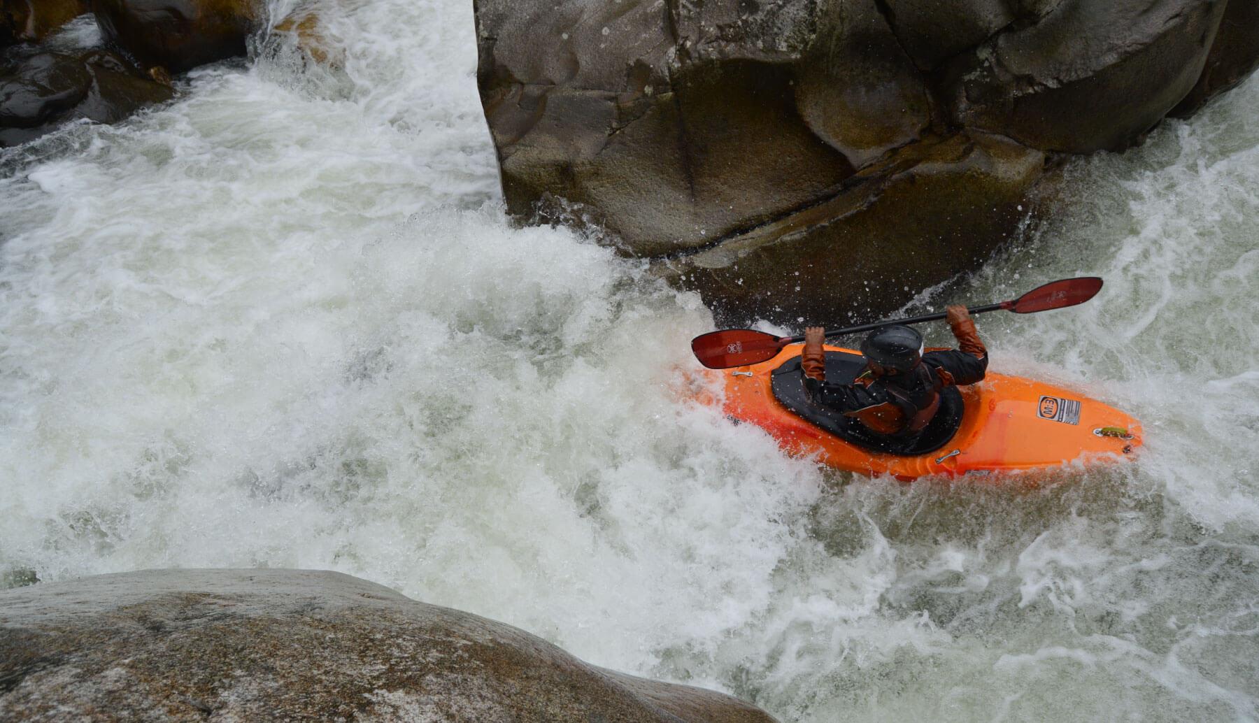 Kayak adventure some rapids