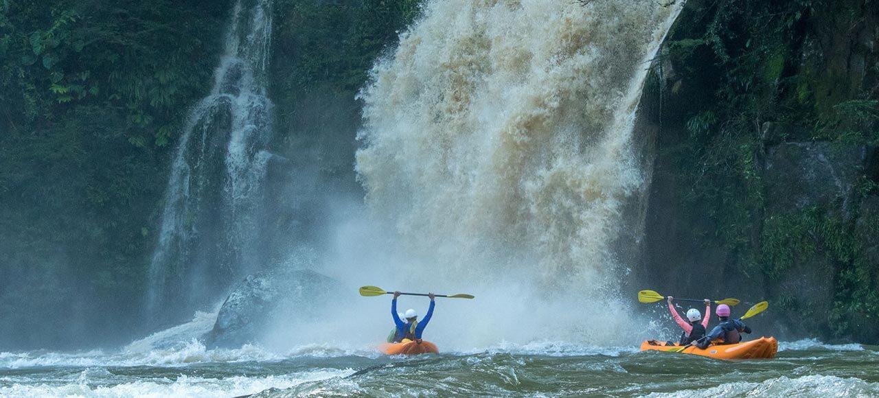 Inflatable Kayak Jondachi River | Rafting the Jondachi with waterfalls