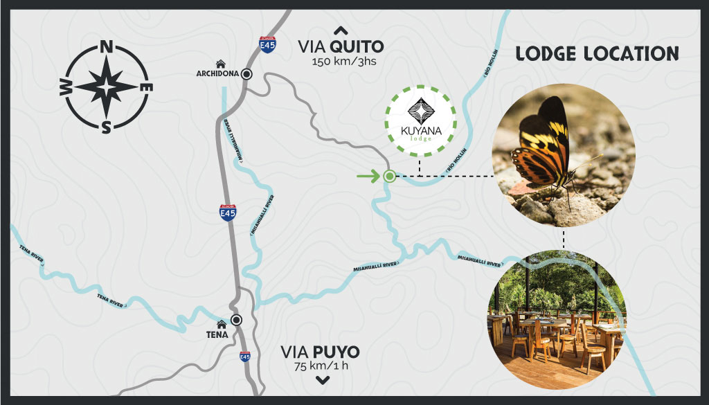 Kuyana Lodge Travel Map