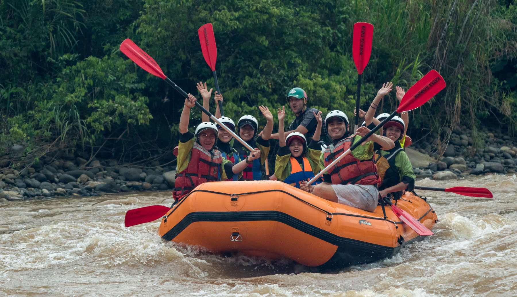 Rafting in Napo River in Ecuador, Southamerica