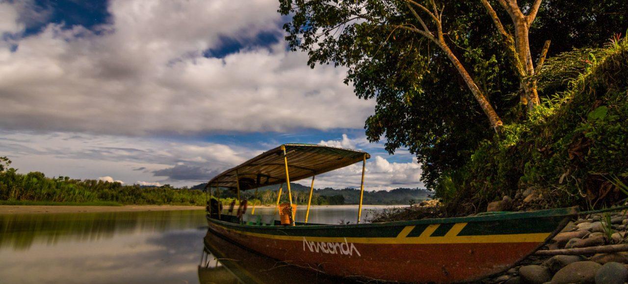 Anaconda Lodge Canoe, Anaconda Island in Southamerica, Ecuador