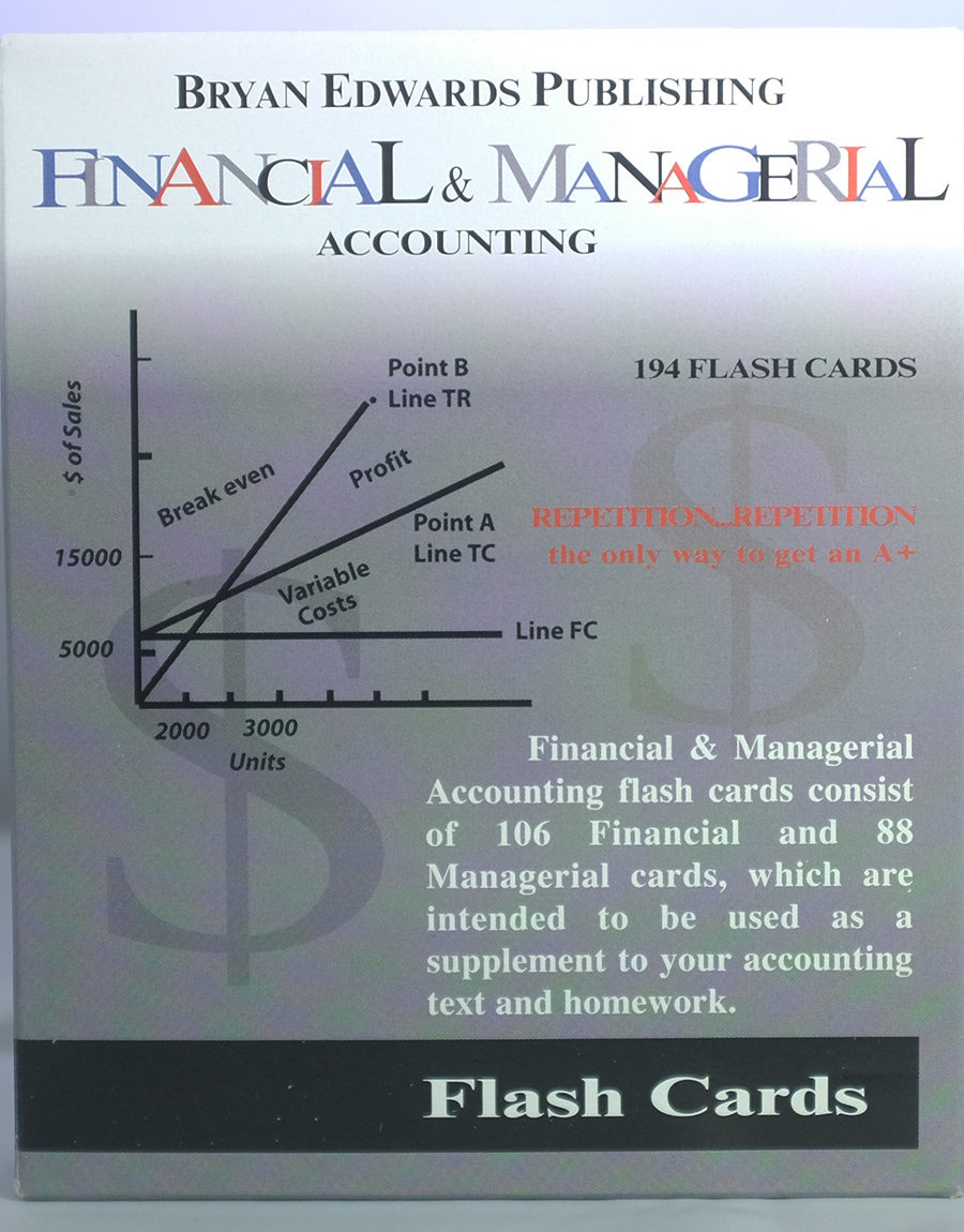 Financial & Managerial Flash Cards - bryanedwards.com