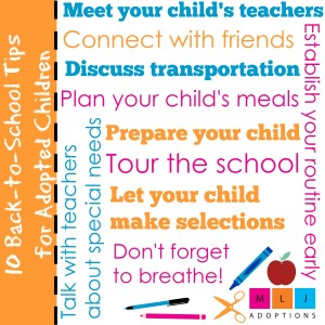10 Back-to-School Tips for Adopted Children