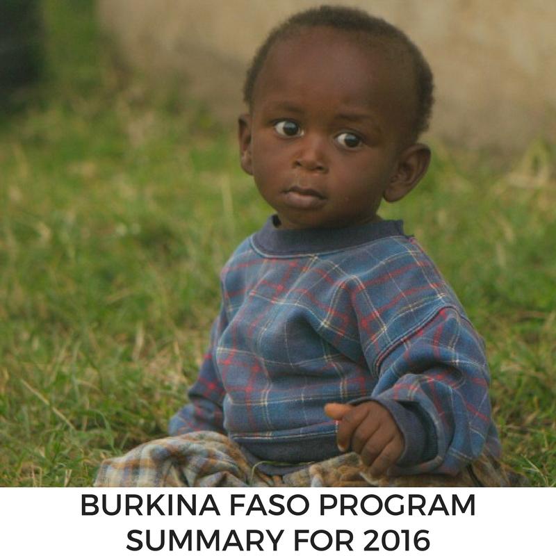 Program Summary for MLJ's Burkina Faso program in 2016.