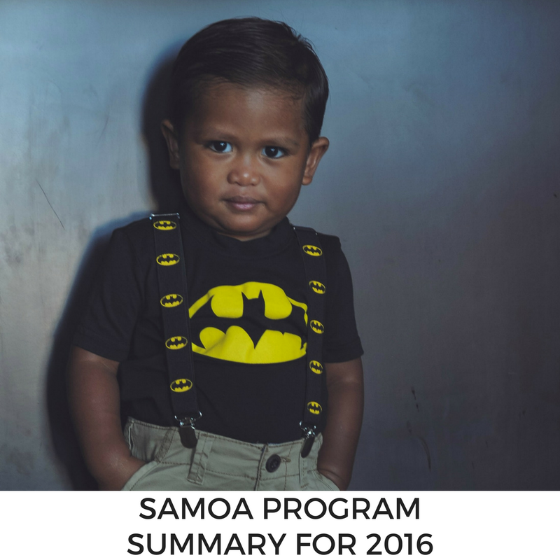 Samoa Program Summary for 2016