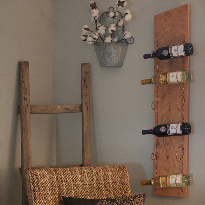 Copper Wine Rack Left 1
