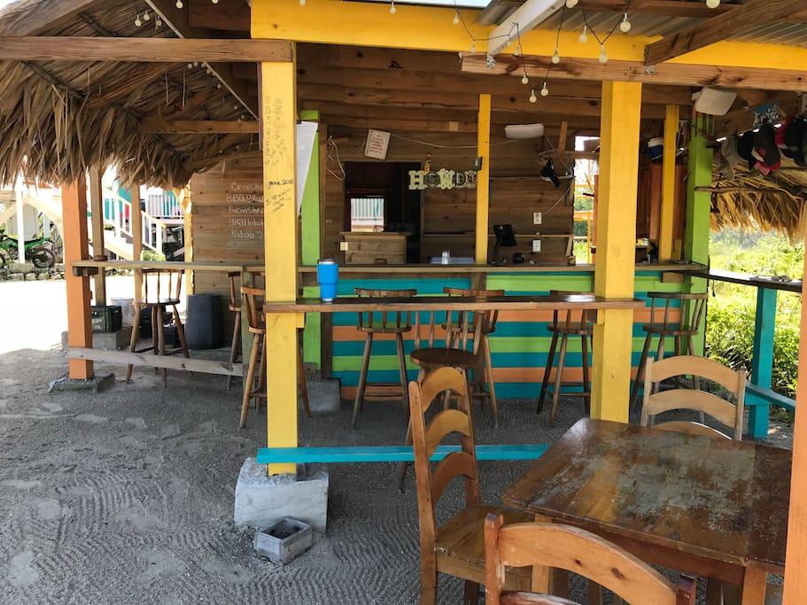 Secret Beach on site restaurant, Aurora's Bar and Grill