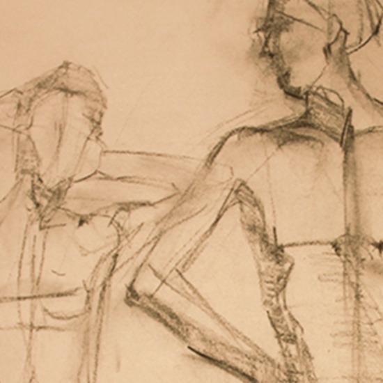 Finding Balance Charcoal Drawing