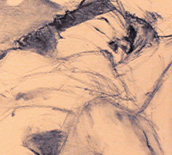 In Repose Charcoal Drawing