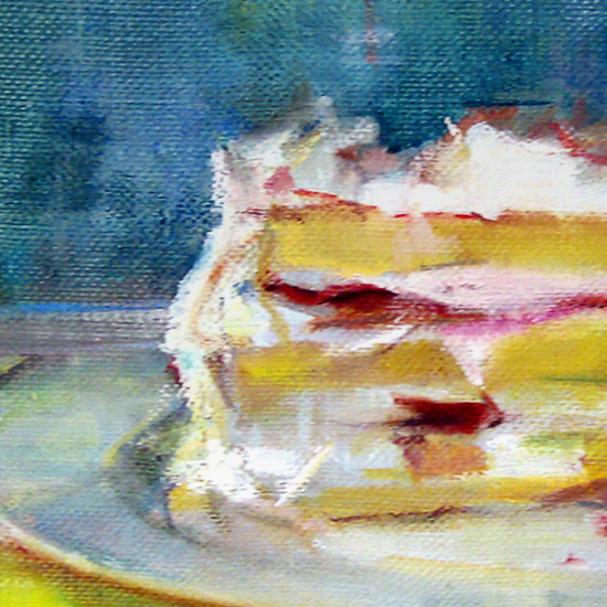 Piece of Cake Oil Painting