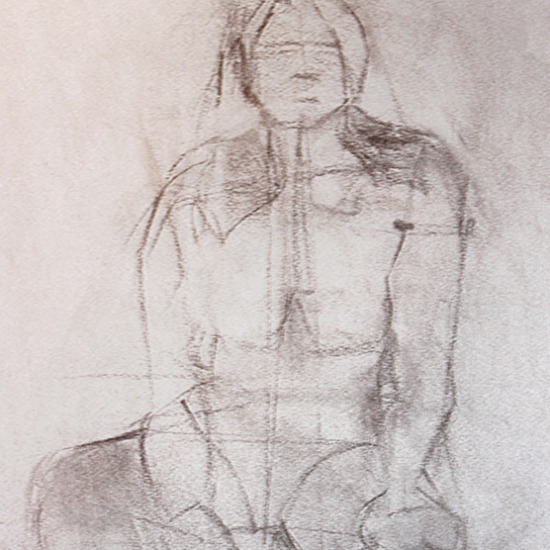 Squaring Up Charcoal on Paper