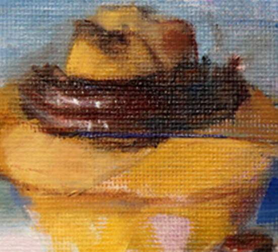 Two Cupcakes Oil Painting