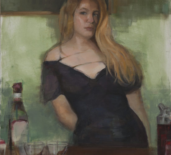 Bartender Oil Painting
