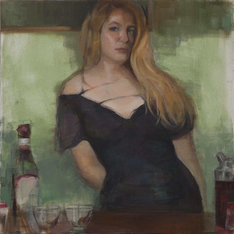 Bartender Oil Painting