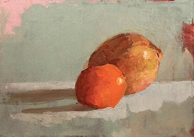 Onion Still Life Painting Barbara Hyman