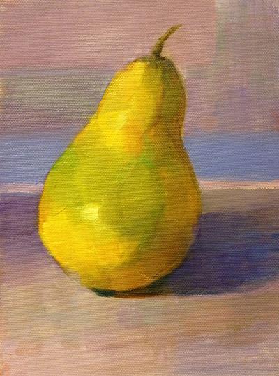 Pear Still Life Painting Barbara Hyman