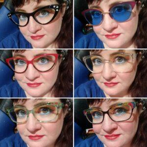 Lauren Spear wearing GlassesShop.com glasses