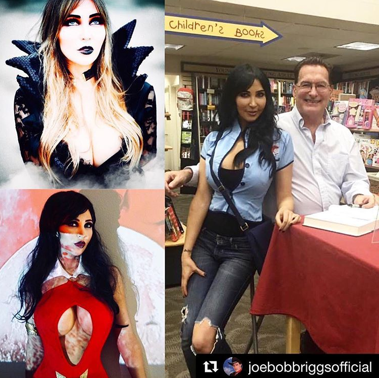 The photo collage Joe Bob Briggs shared on his official Instagram when he announced he'd chosen Diana Prince as his new Mail Girl!