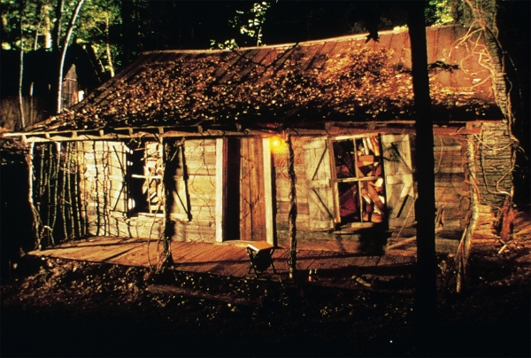 Log cabin in Evil Dead II