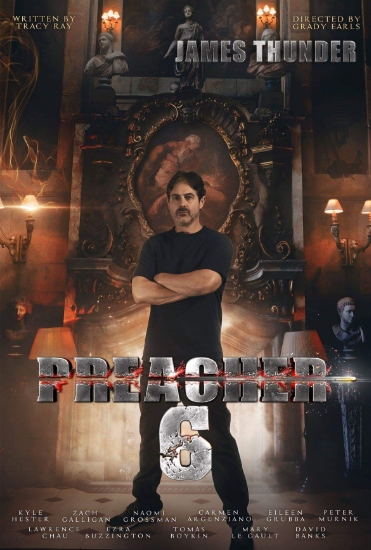 Promo pic of Zach Galligan (Gremlins, Waxwork, etc.) in Preacher Six!