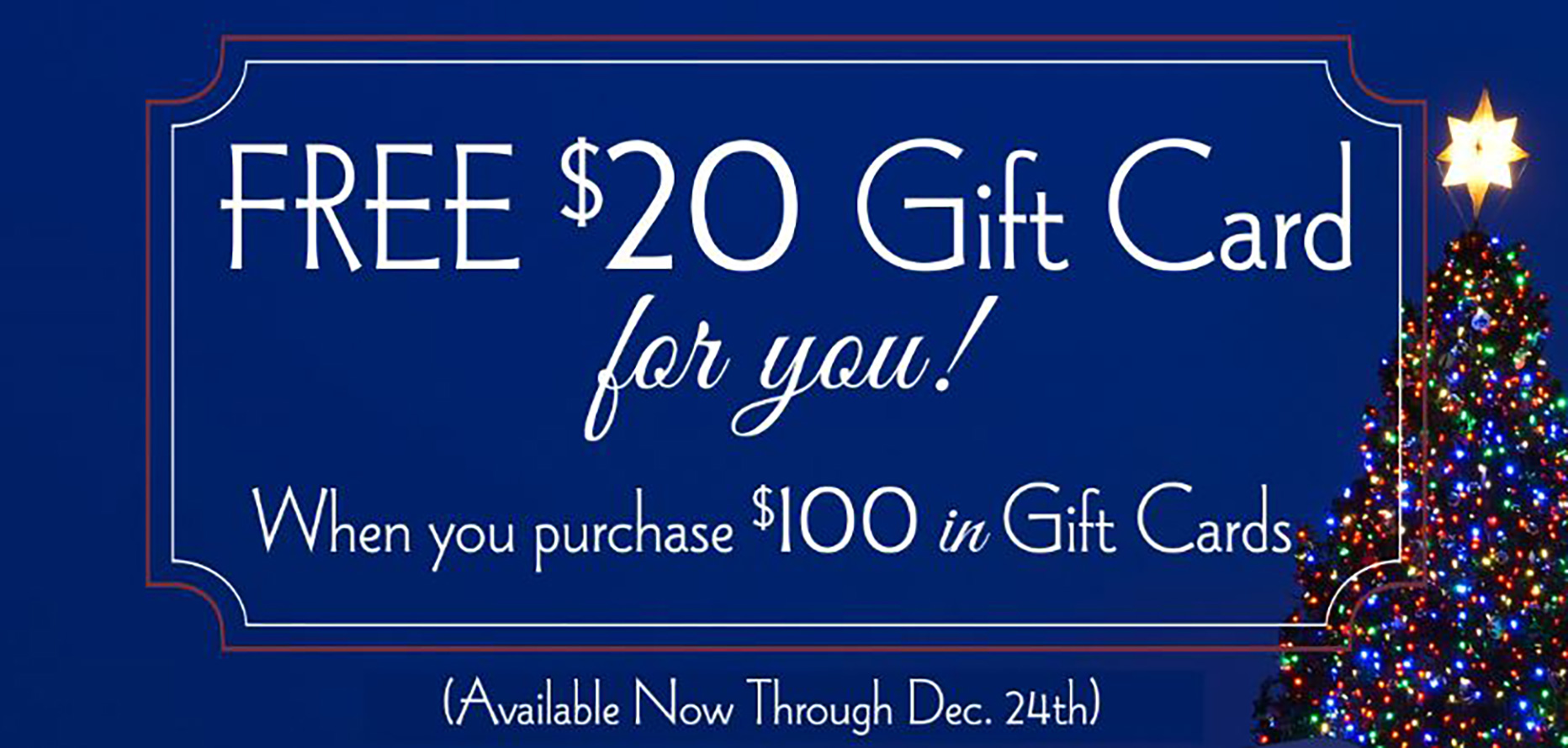DC Prime Holiday Gift Card Promotion is back