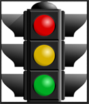 Traffic Signal Stop Caution Go