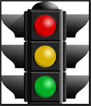 Traffic Signal Stop Caution Go