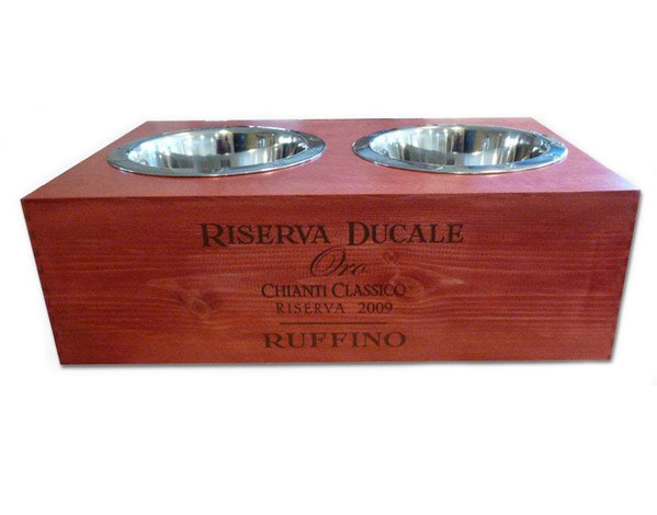 elevated dog bowls double