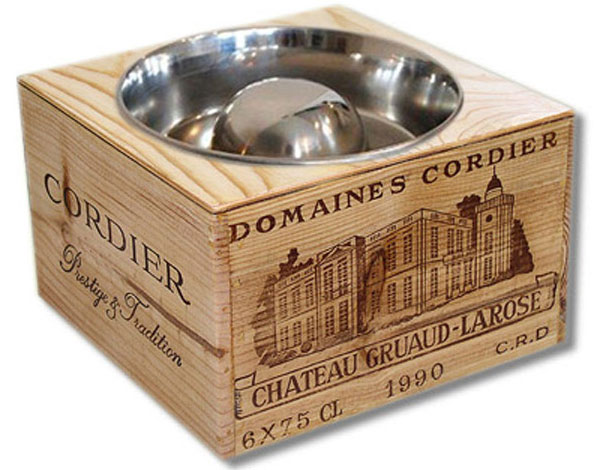 raised dog bowl and dog feeder