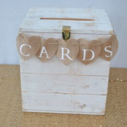 Rustic White Card Box