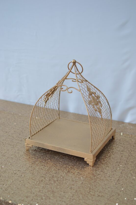 Gold Cage Tray