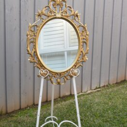 Medium Gold Mirror with Easel