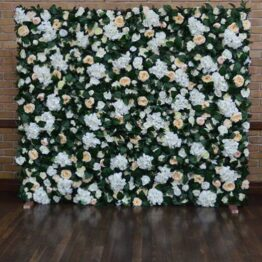 Peachy Keen Flower Wall
