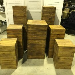 Rustic Wooden Plinth Set