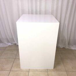 Square White Cake Plinth
