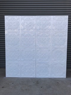 White Pressed Backdrop Wall