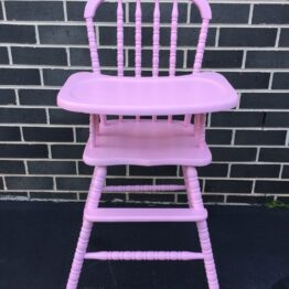 Vintage Pink High Chair