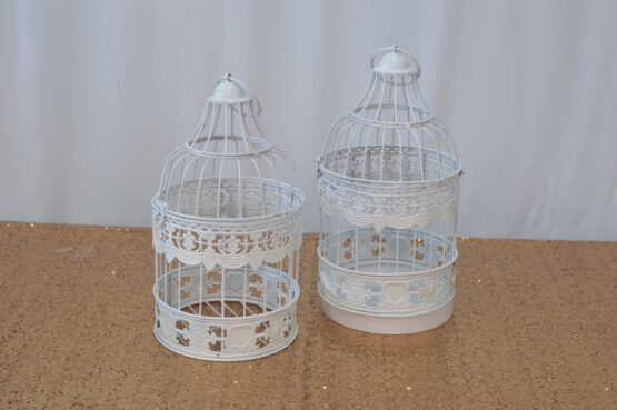 Vintage White Cages