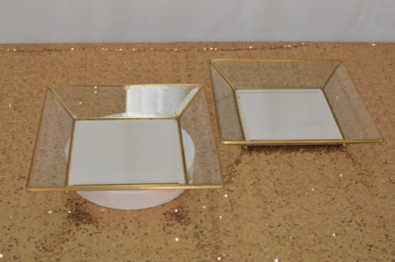 Gold Square Glass Platter