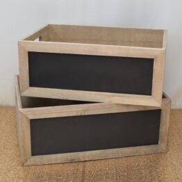 Large Blackboard Crate