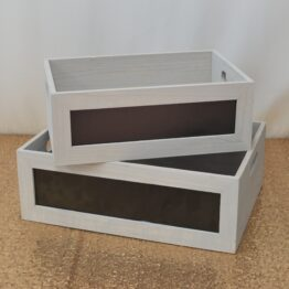 Medium Grey Blackboard Crate