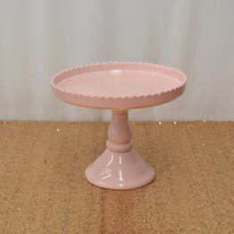 Pink Scallop Cake Stand