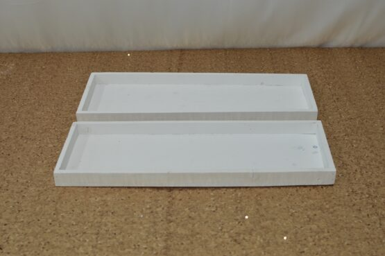 White Wooden Rectangle Tray