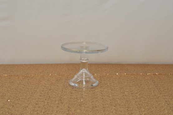 Small Clear Mosser Cake Stand